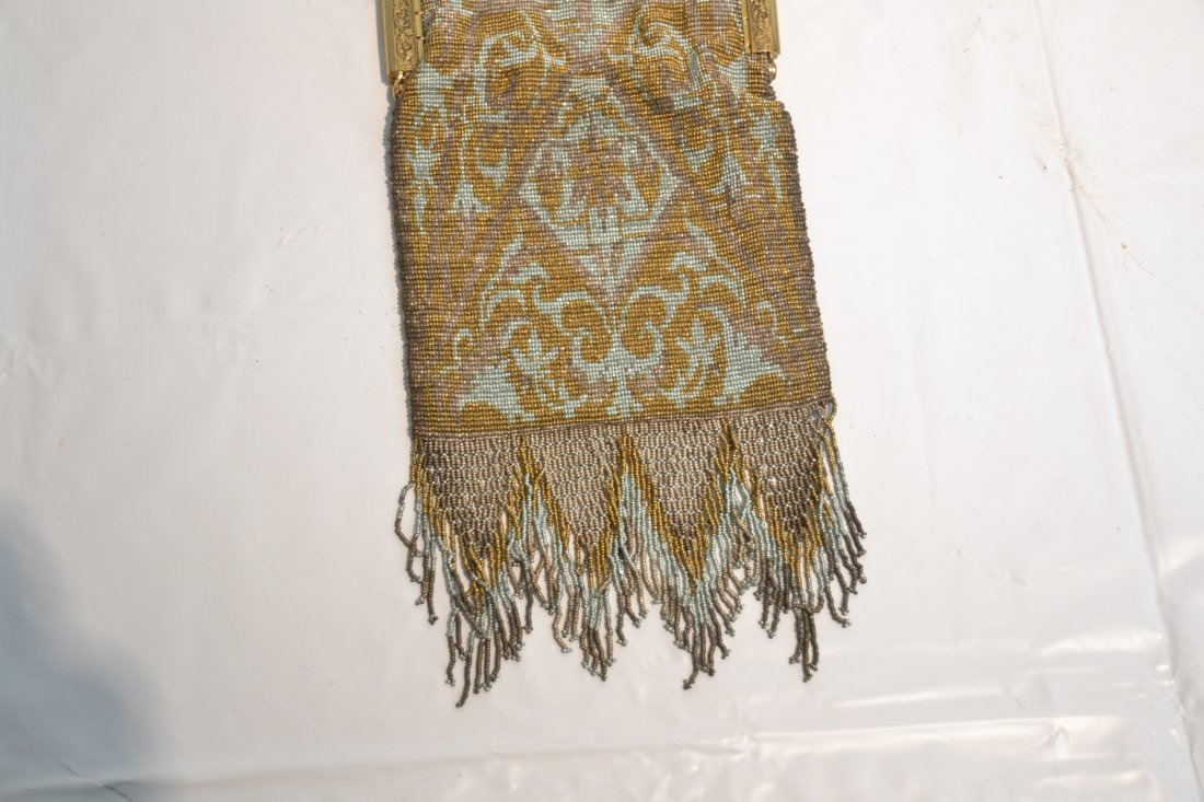 VICTORIAN BEADED BAG WITH LONG FRINGE - 4