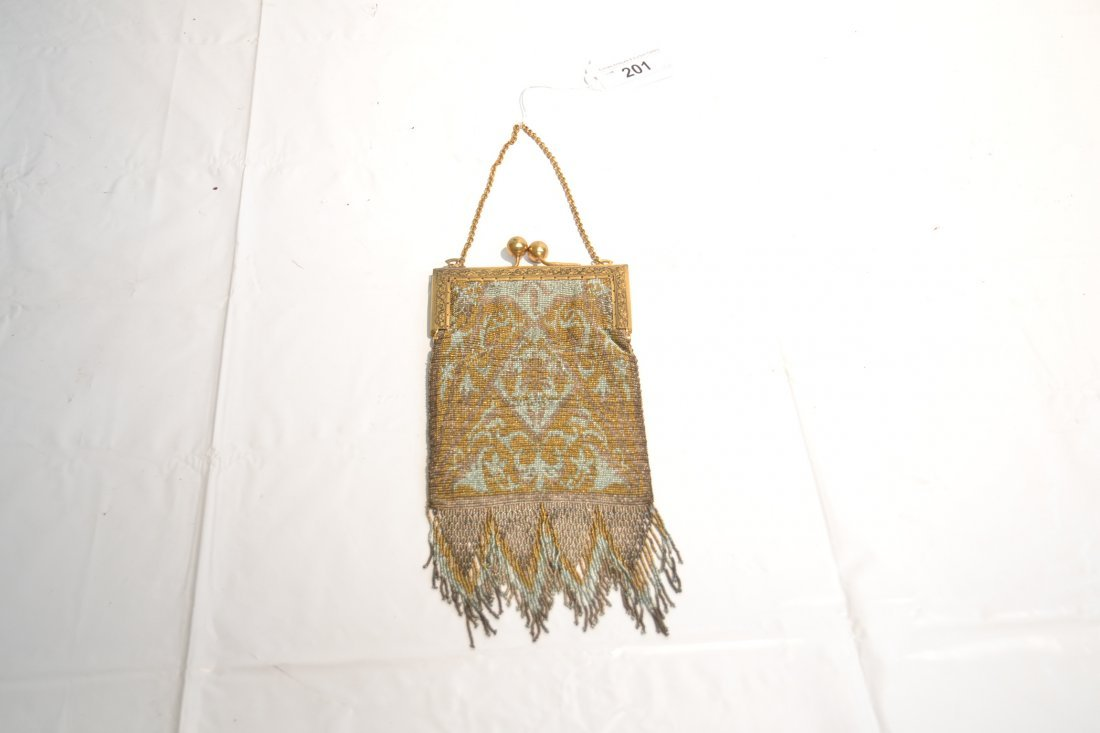 VICTORIAN BEADED BAG WITH LONG FRINGE - 5