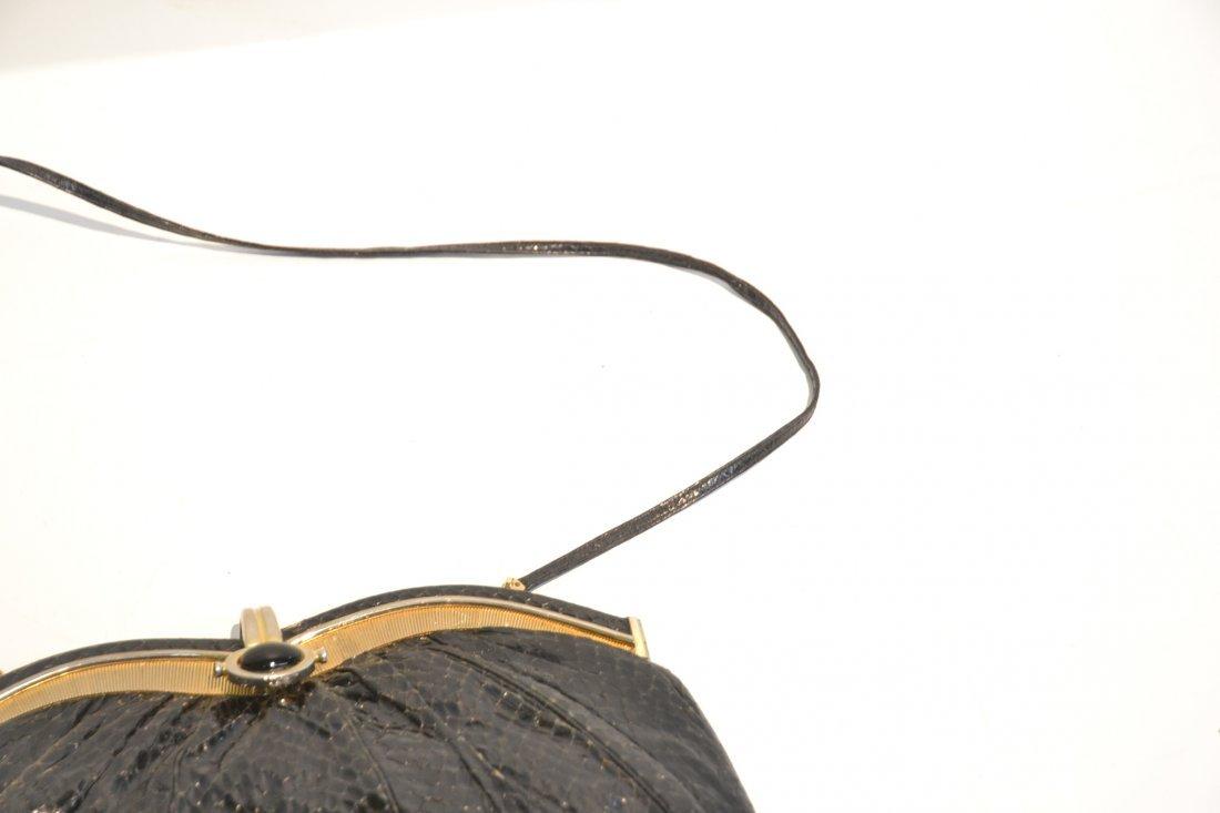 JUDITH LIEBER SNAKE SKIN HAND BAG WITH - 3