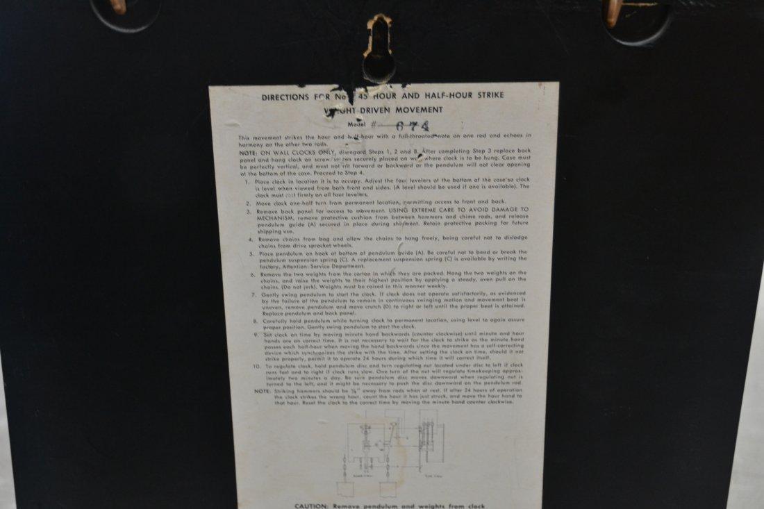 MODERN HOWARD MILLER WALL CLOCK - 6