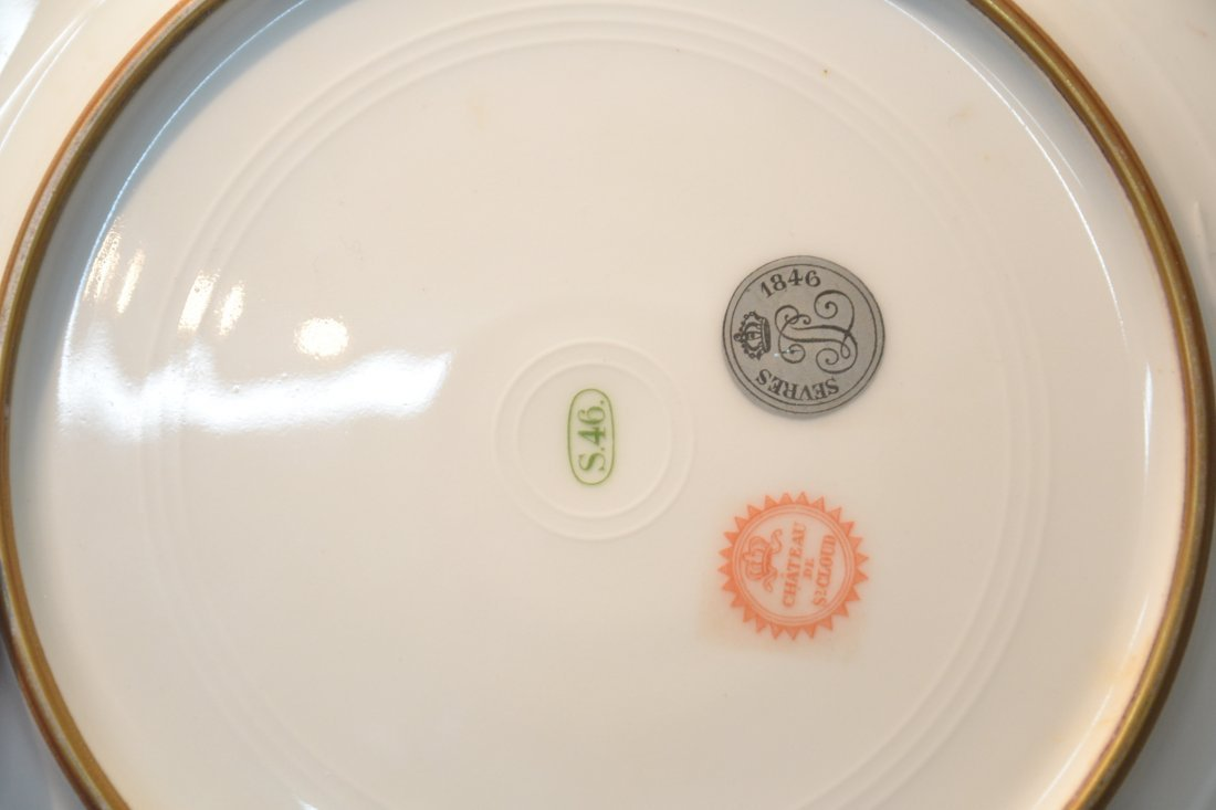 HAND PAINTED SEVRES ST. CLOUD CHATEAU PLATE WITH - 4