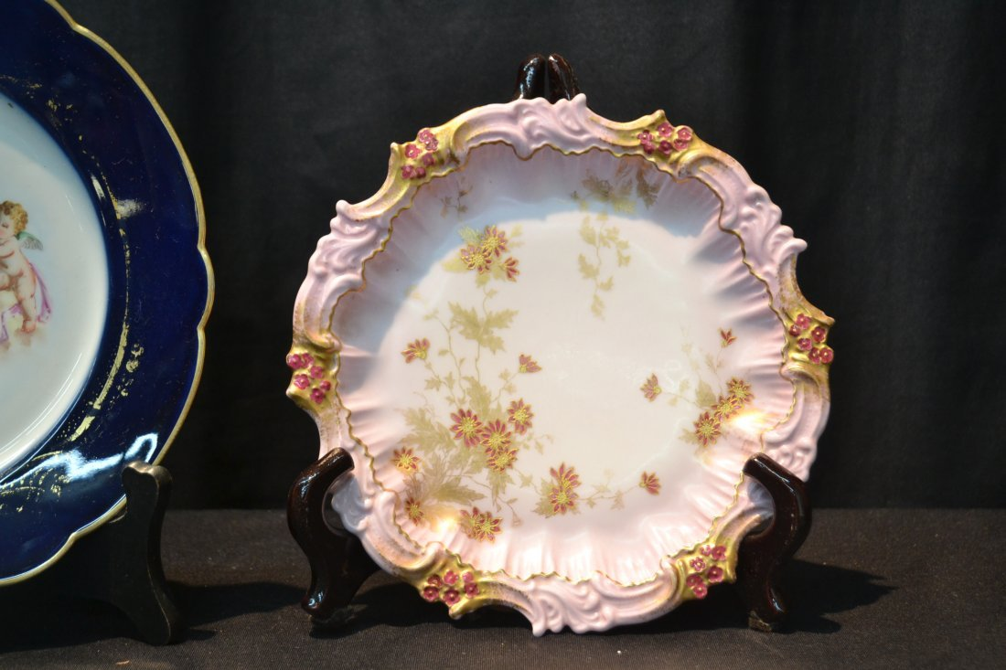 HAND PAINTED SEVRES ST. CLOUD CHATEAU PLATE WITH - 5