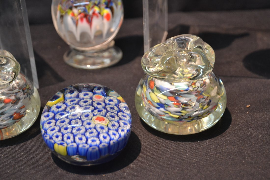 (7) ASSORTED ART GLASS PAPERWEIGHTS INCLUDING - 3