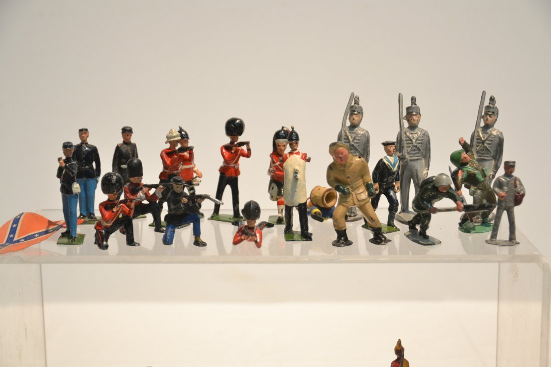 """ASSORTED LEAD & COMPOSITION SOLDIERS - 5 1/2"""" - 10"""