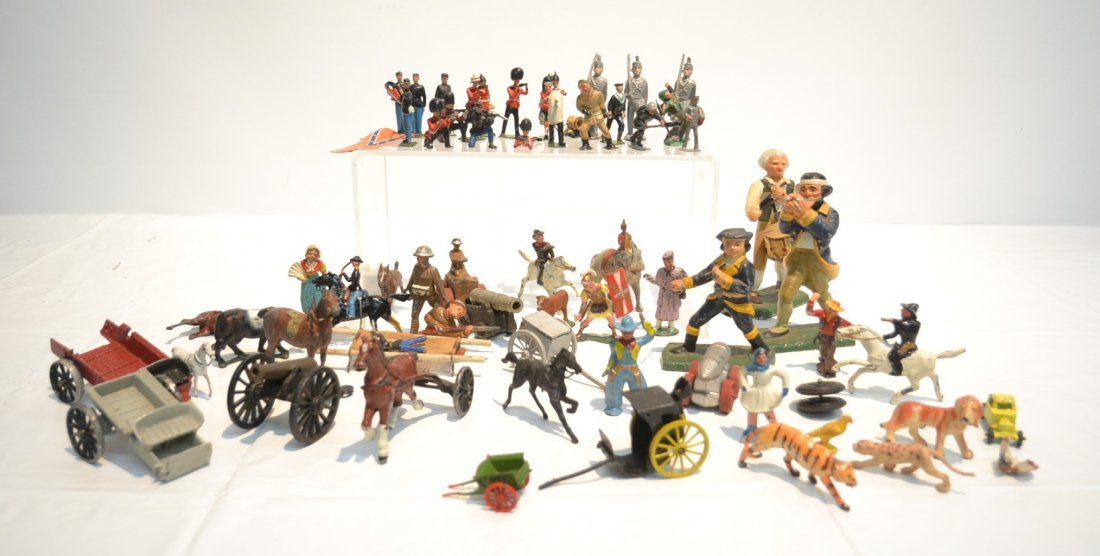 """ASSORTED LEAD & COMPOSITION SOLDIERS - 5 1/2"""""""