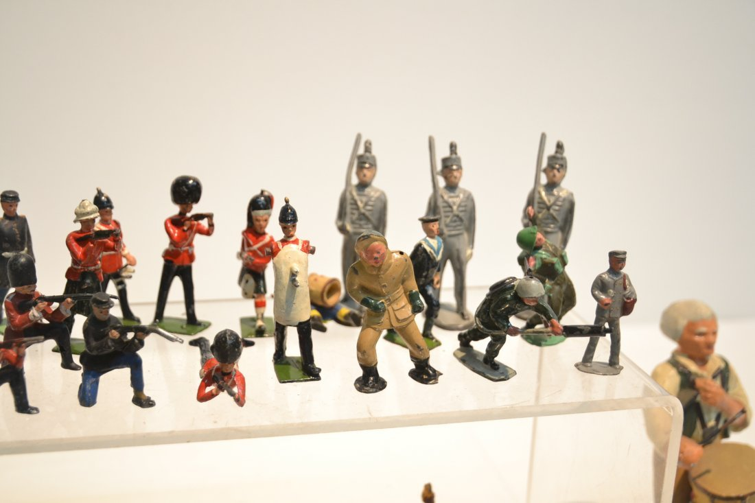 """ASSORTED LEAD & COMPOSITION SOLDIERS - 5 1/2"""" - 2"""