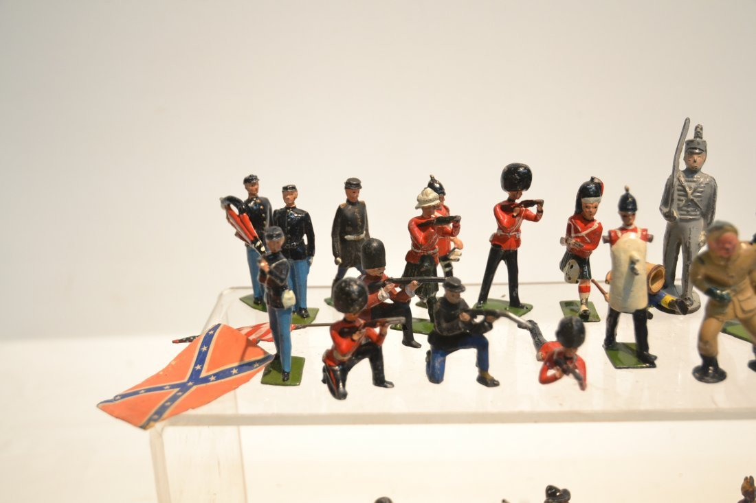 """ASSORTED LEAD & COMPOSITION SOLDIERS - 5 1/2"""" - 3"""