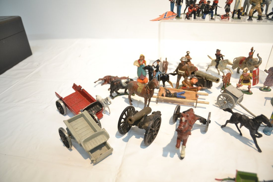 """ASSORTED LEAD & COMPOSITION SOLDIERS - 5 1/2"""" - 4"""