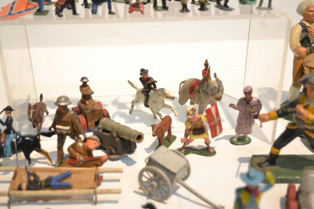 """ASSORTED LEAD & COMPOSITION SOLDIERS - 5 1/2"""" - 5"""