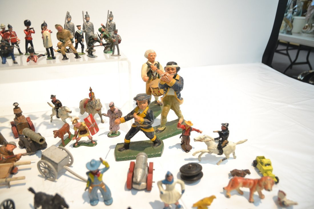 """ASSORTED LEAD & COMPOSITION SOLDIERS - 5 1/2"""" - 6"""