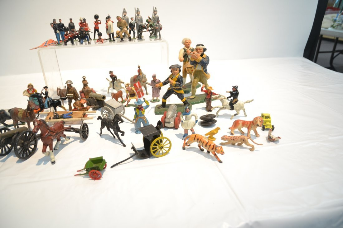 """ASSORTED LEAD & COMPOSITION SOLDIERS - 5 1/2"""" - 7"""