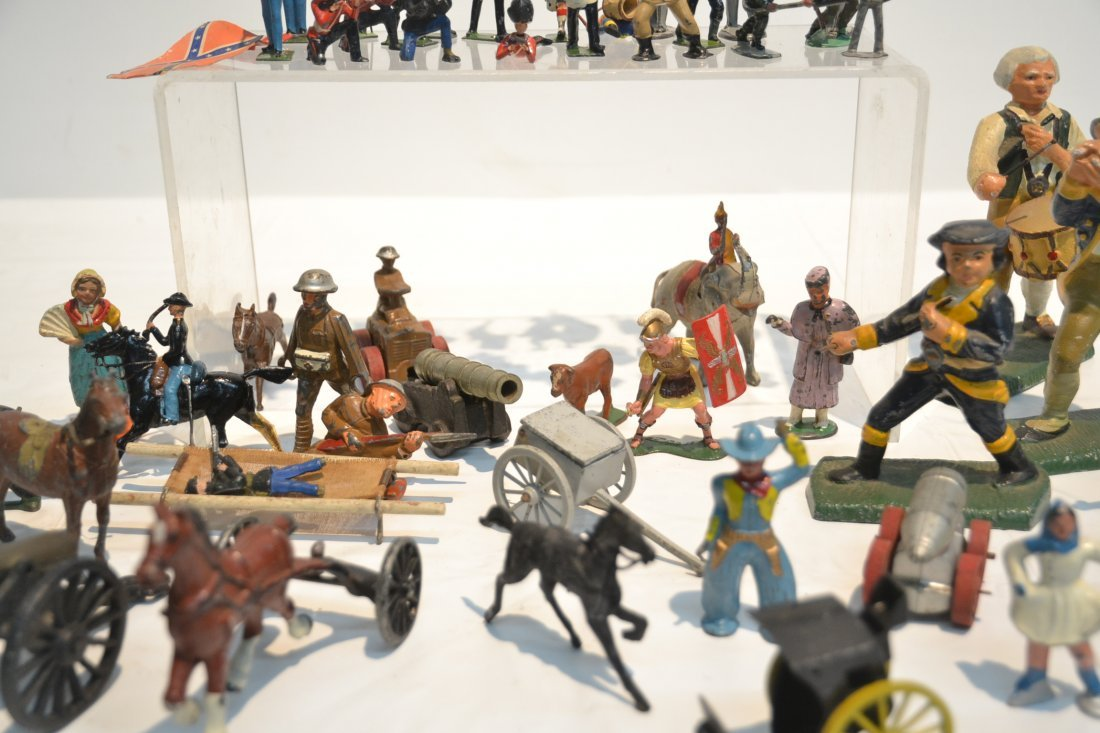 """ASSORTED LEAD & COMPOSITION SOLDIERS - 5 1/2"""" - 9"""