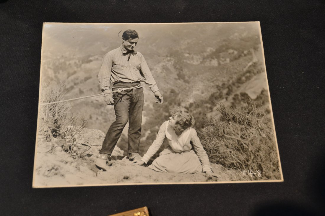 VINTAGE TOM MIX PHOTO , JOHN GARFIELD & NANCY - 8