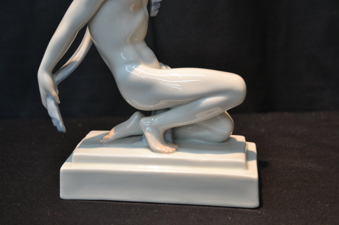 HEREND PORCELAIN SEMI NUDE MALE - 4