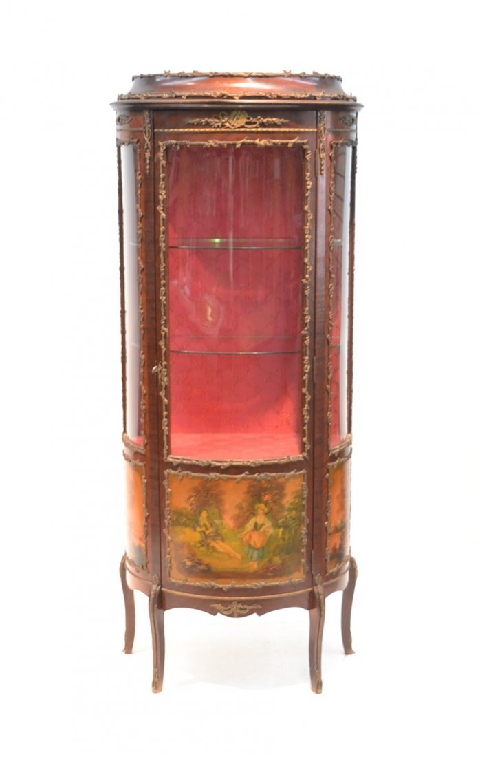 VERNIS MARTIN STYLE CURIO CABINET WITH