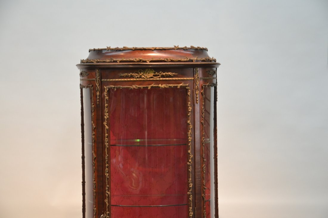 VERNIS MARTIN STYLE CURIO CABINET WITH - 4