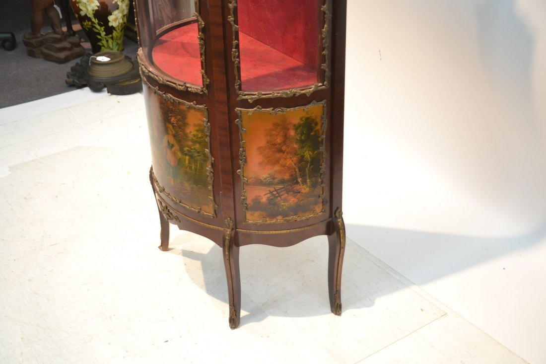 VERNIS MARTIN STYLE CURIO CABINET WITH - 6