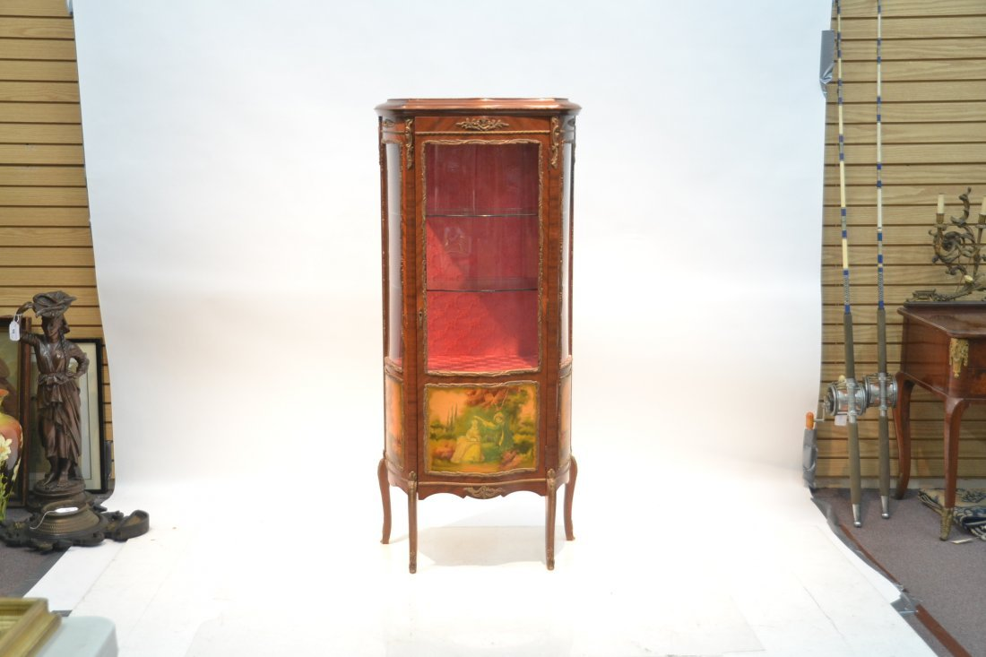 VERNIS MARTIN STYLE CURIO CABINET WITH - 2