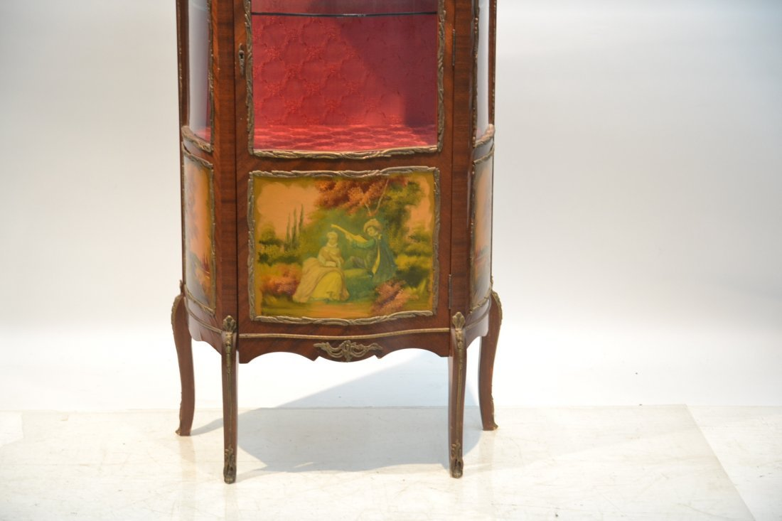 VERNIS MARTIN STYLE CURIO CABINET WITH - 3