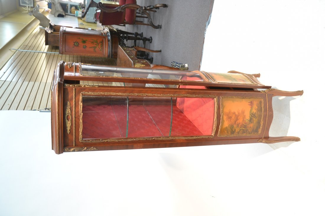 VERNIS MARTIN STYLE CURIO CABINET WITH - 7