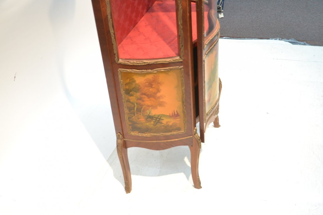 VERNIS MARTIN STYLE CURIO CABINET WITH - 8
