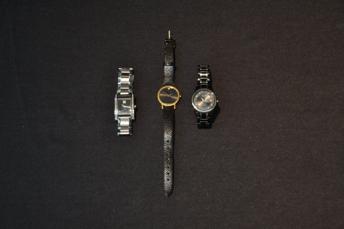(3) WATCHES INCLUDING (2) MOVADO WITH DIAMONDS & - 2
