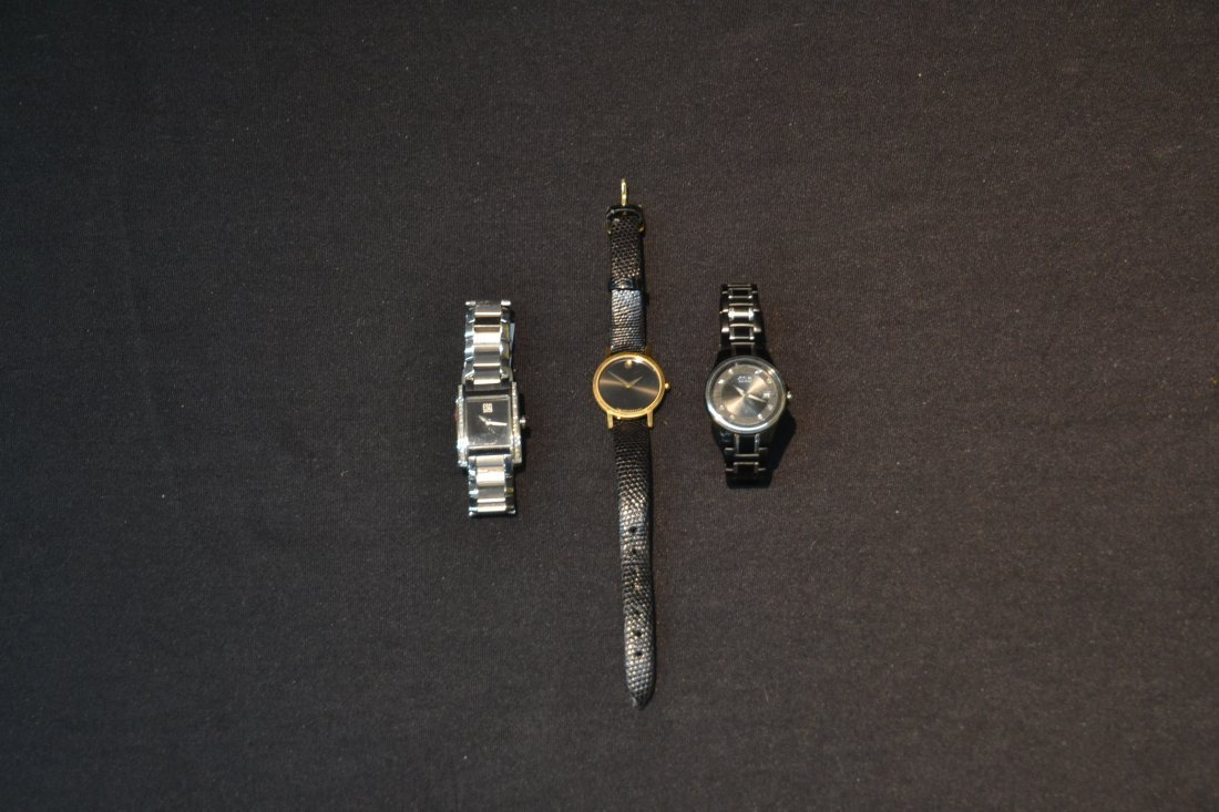 (3) WATCHES INCLUDING (2) MOVADO WITH DIAMONDS & - 3