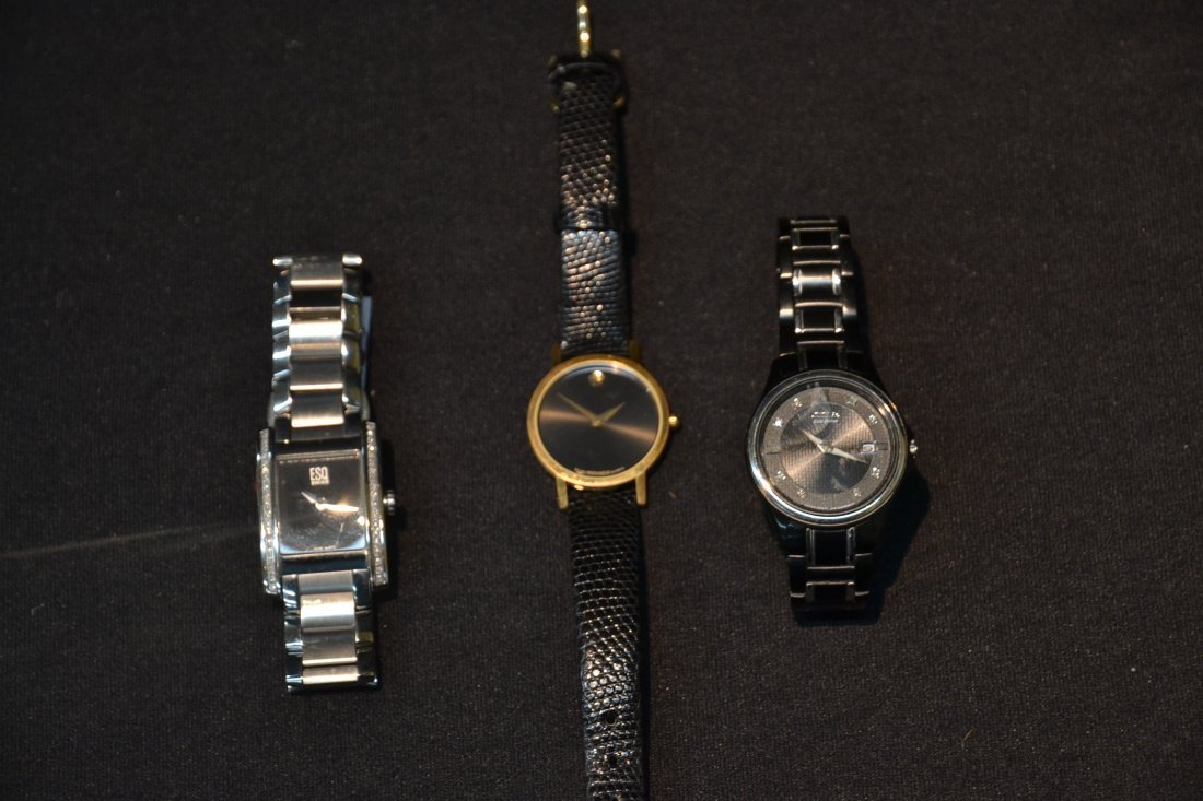 (3) WATCHES INCLUDING (2) MOVADO WITH DIAMONDS & - 4