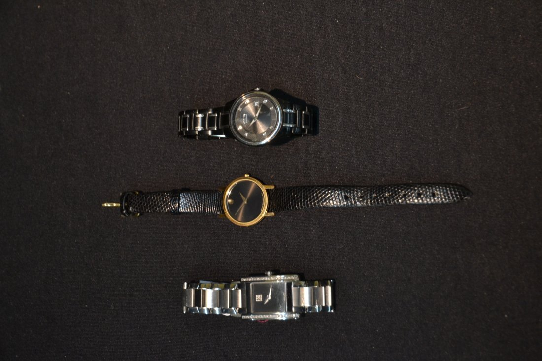(3) WATCHES INCLUDING (2) MOVADO WITH DIAMONDS & - 7