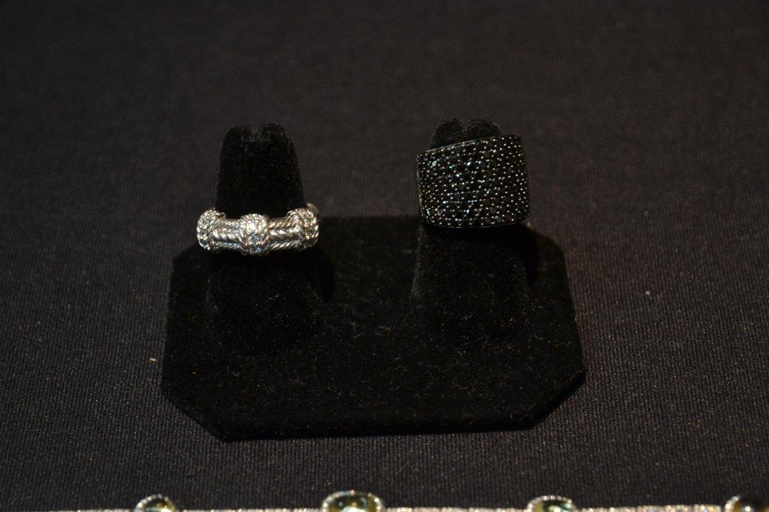 JUDITH RIPKA BRACELET , RING & BLACK STONE RING - 2