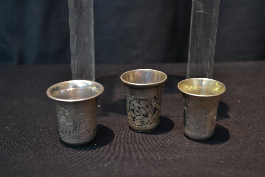 (6) 84 RUSSIAN SILVER CUPS ; 6.61ozt - 4