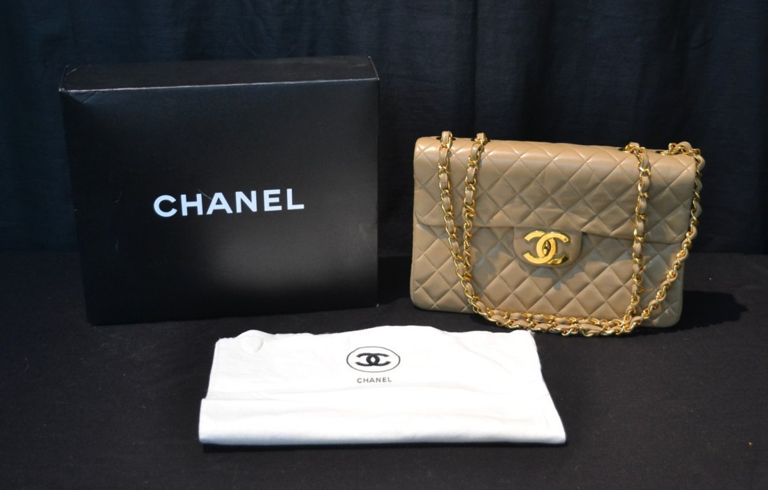 CHANEL CLASSIC QUILTED LEATHER MAXI SHOULDER BAG