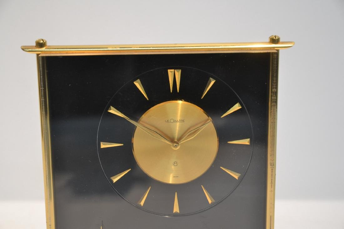 LeCOULTRE DESK CLOCK WITH CHINOISERIE MOTIF - 3