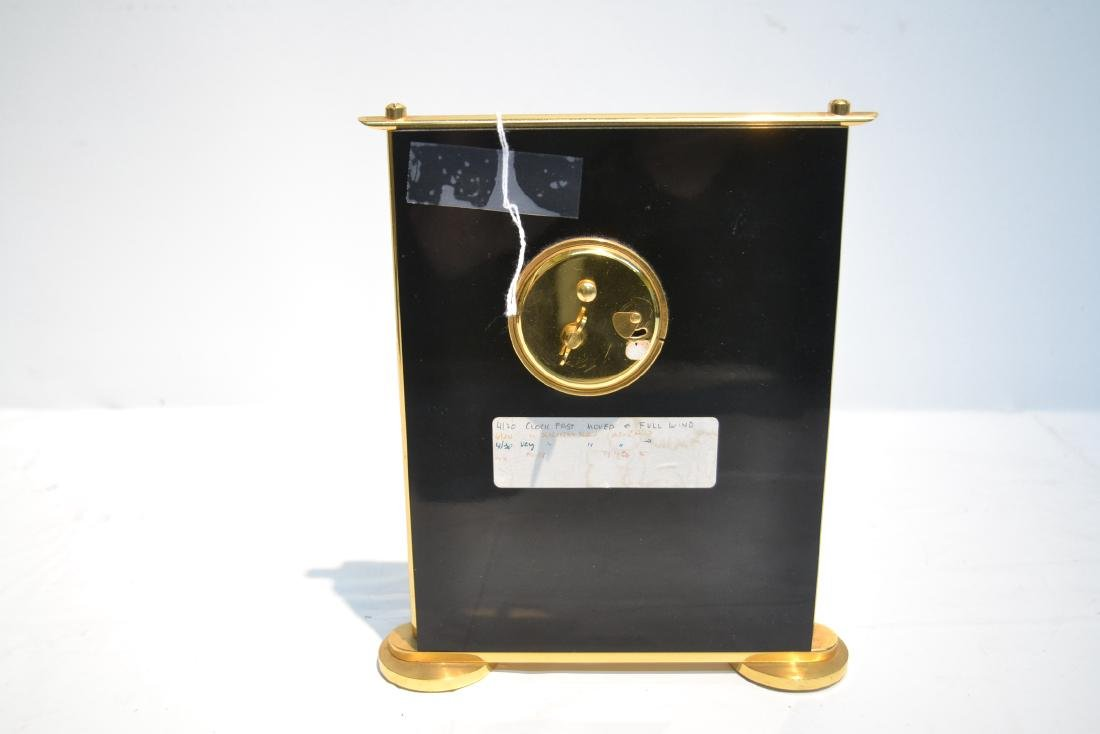 LeCOULTRE DESK CLOCK WITH CHINOISERIE MOTIF - 6