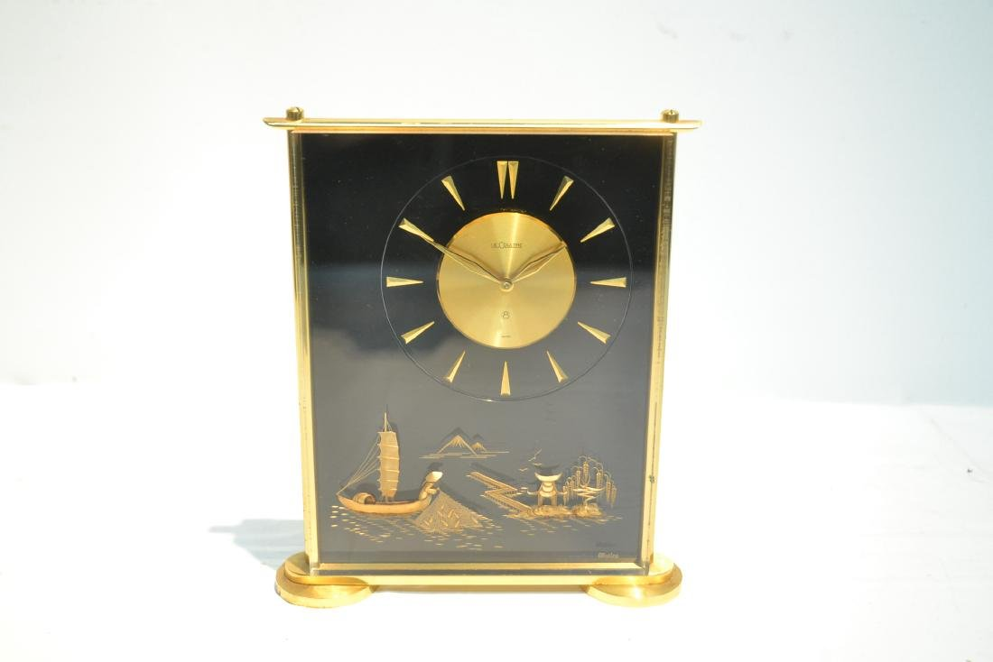 LeCOULTRE DESK CLOCK WITH CHINOISERIE MOTIF - 8