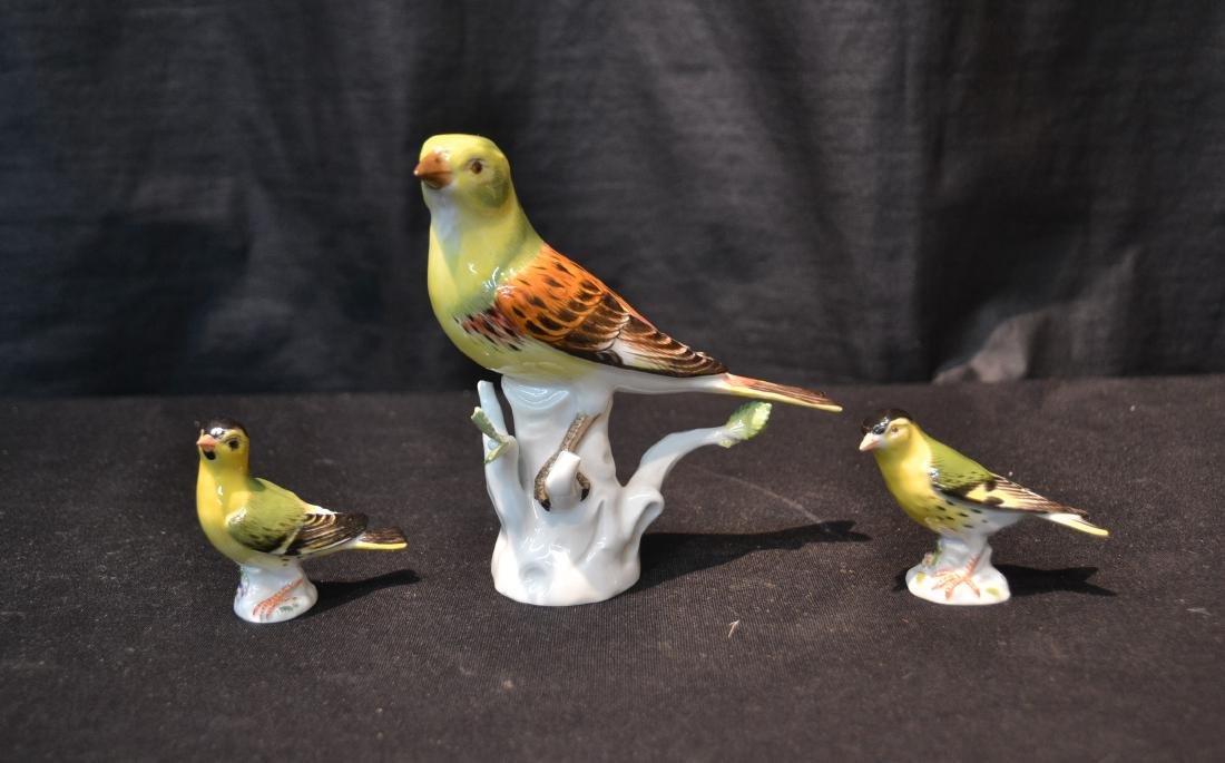 (3) MEISSEN PORCELAIN BIRDS