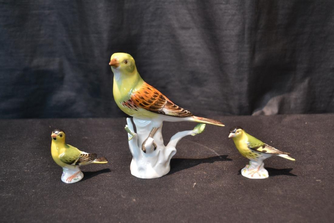 (3) MEISSEN PORCELAIN BIRDS - 2
