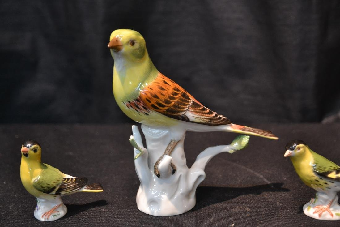 (3) MEISSEN PORCELAIN BIRDS - 3