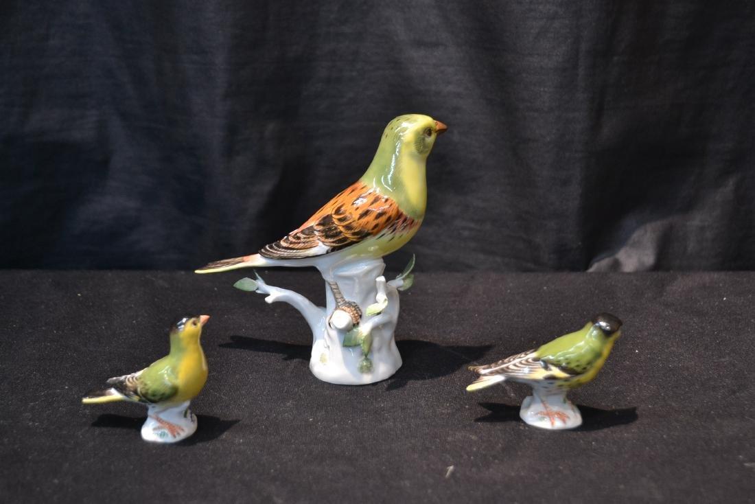 (3) MEISSEN PORCELAIN BIRDS - 5