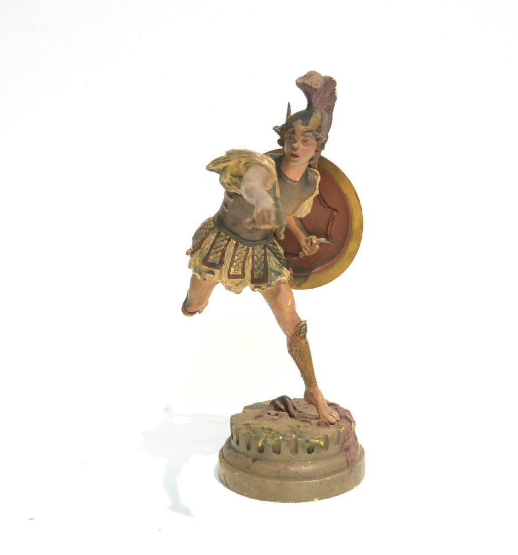 COLD PAINTED BRONZE ROMAN WARRIOR