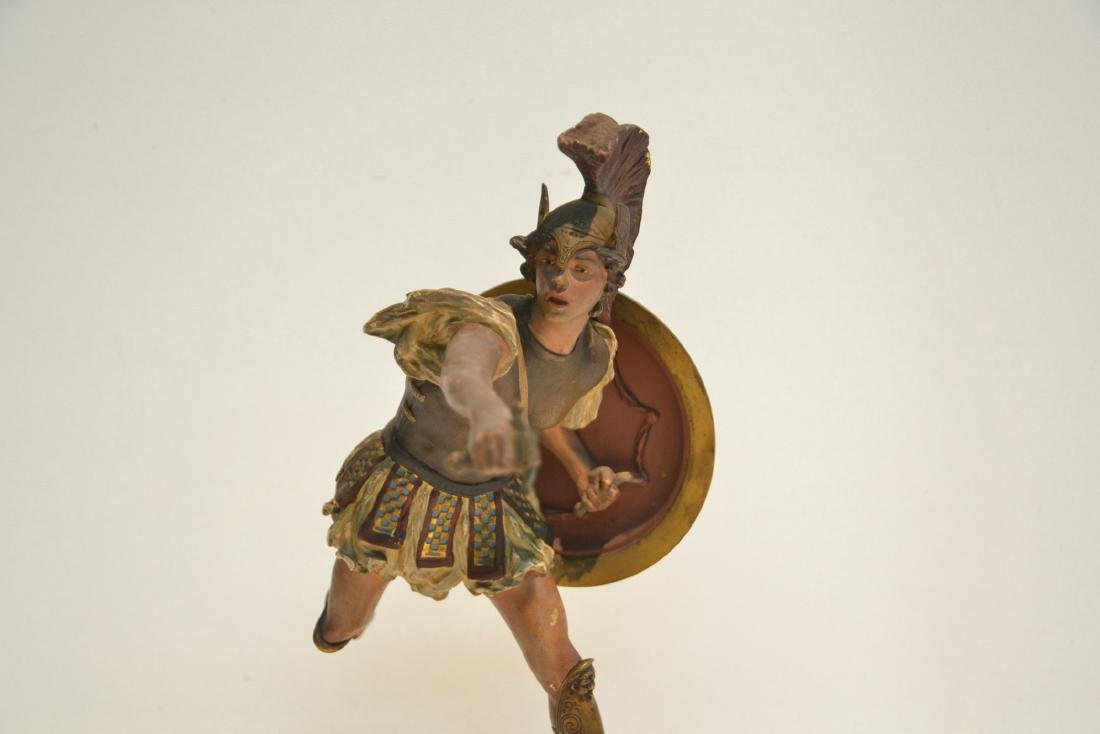 COLD PAINTED BRONZE ROMAN WARRIOR - 2