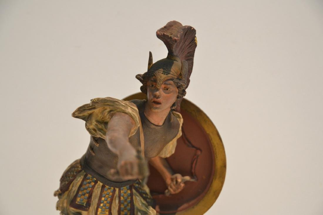 COLD PAINTED BRONZE ROMAN WARRIOR - 3