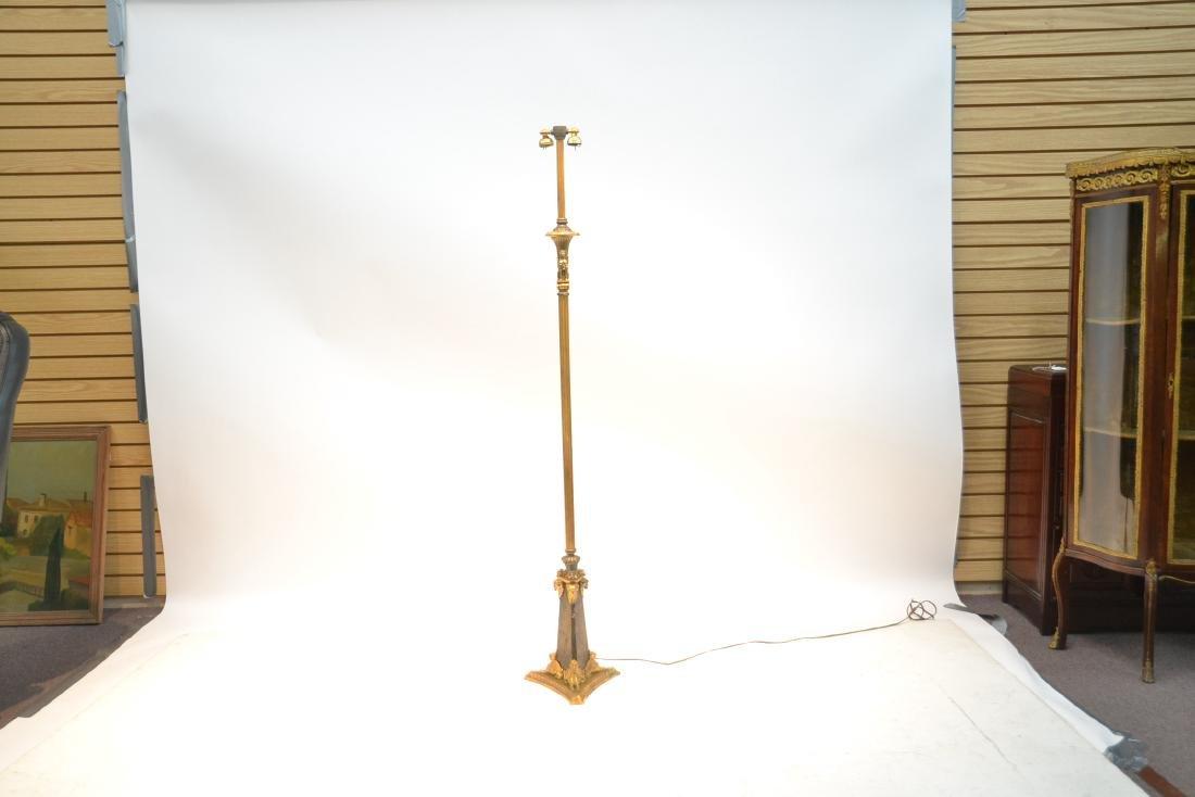 BRONZE FLOOR LAMP WITH WINGED CREATURES & - 10