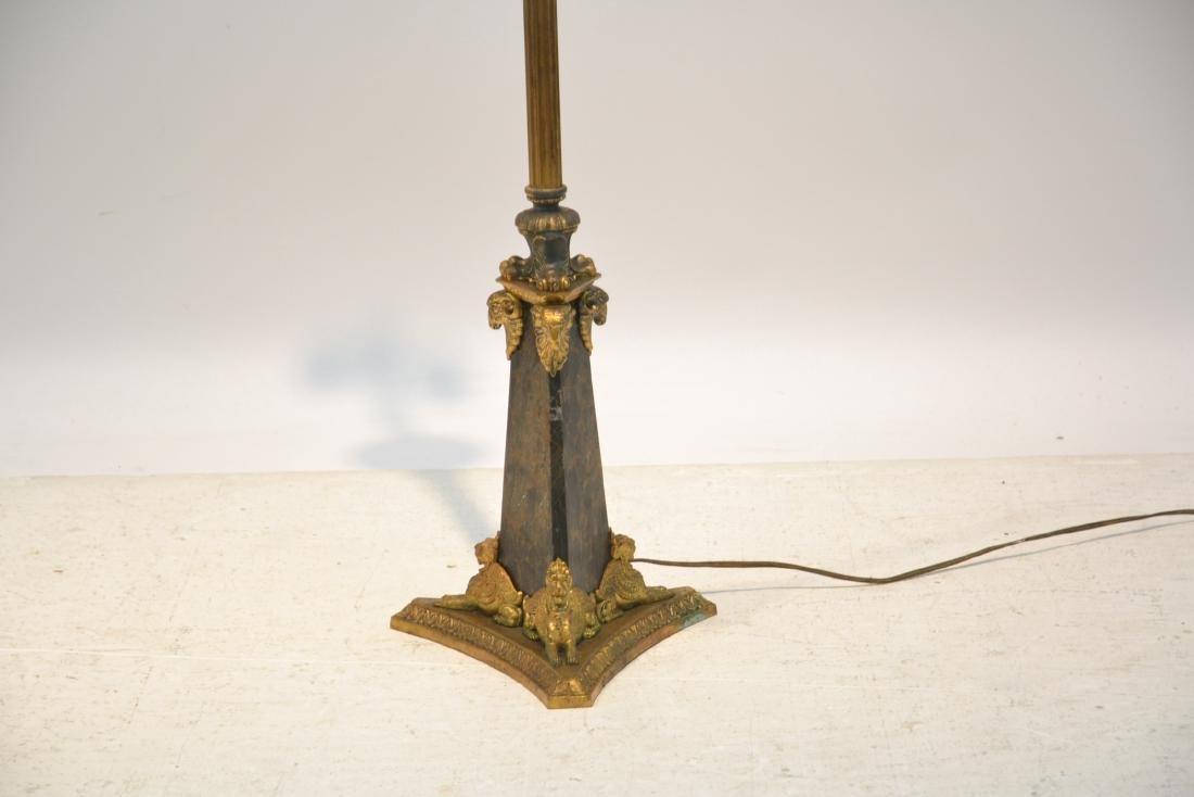 BRONZE FLOOR LAMP WITH WINGED CREATURES & - 3