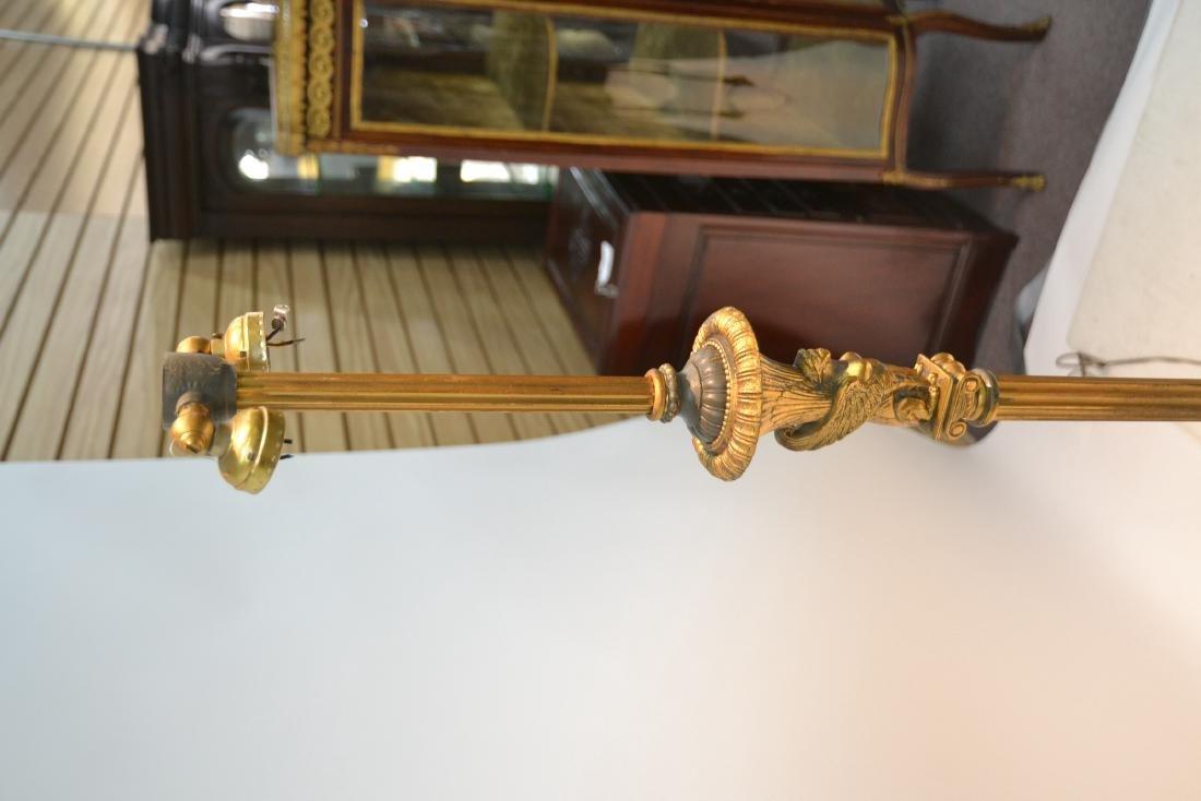 BRONZE FLOOR LAMP WITH WINGED CREATURES & - 4