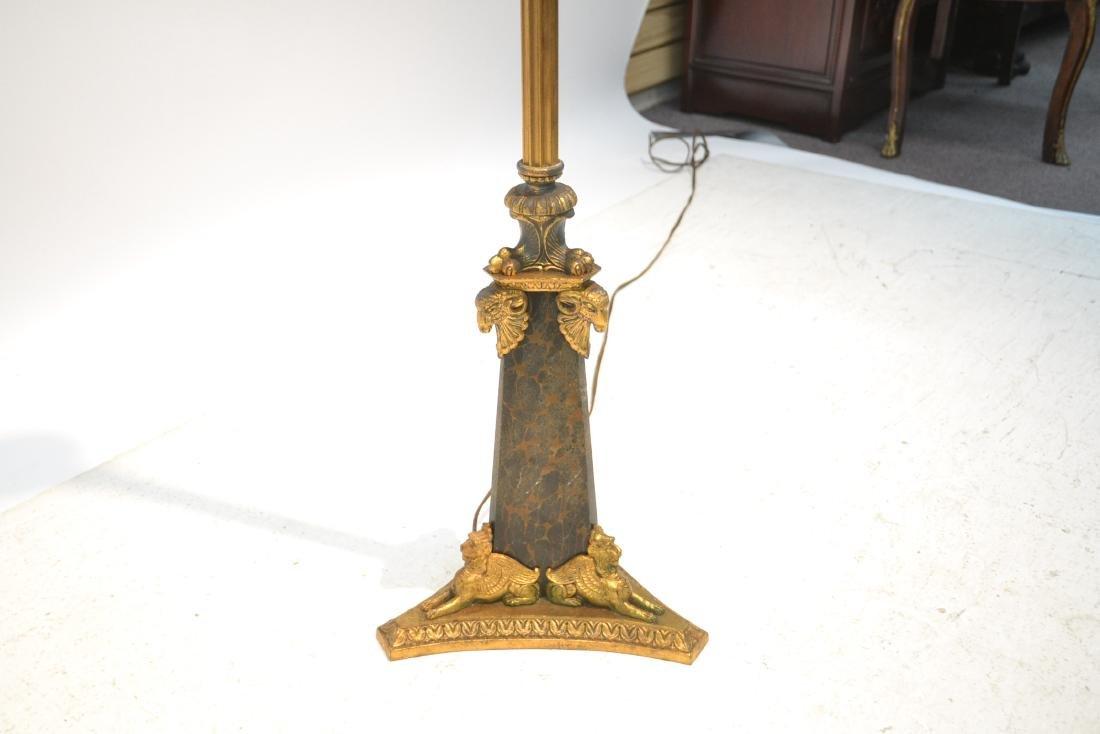 BRONZE FLOOR LAMP WITH WINGED CREATURES & - 5