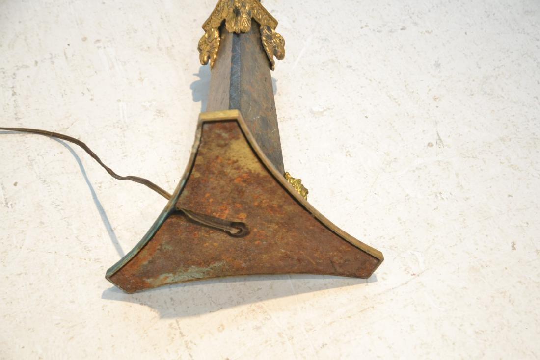 BRONZE FLOOR LAMP WITH WINGED CREATURES & - 8