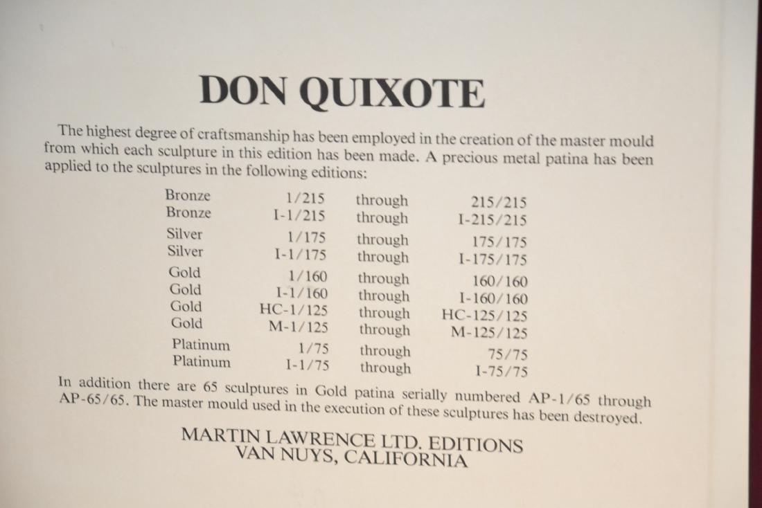 """SALVADOR DALI """"DON QUIXOTE"""" GOLD PATINA PLAQUE - 7"""