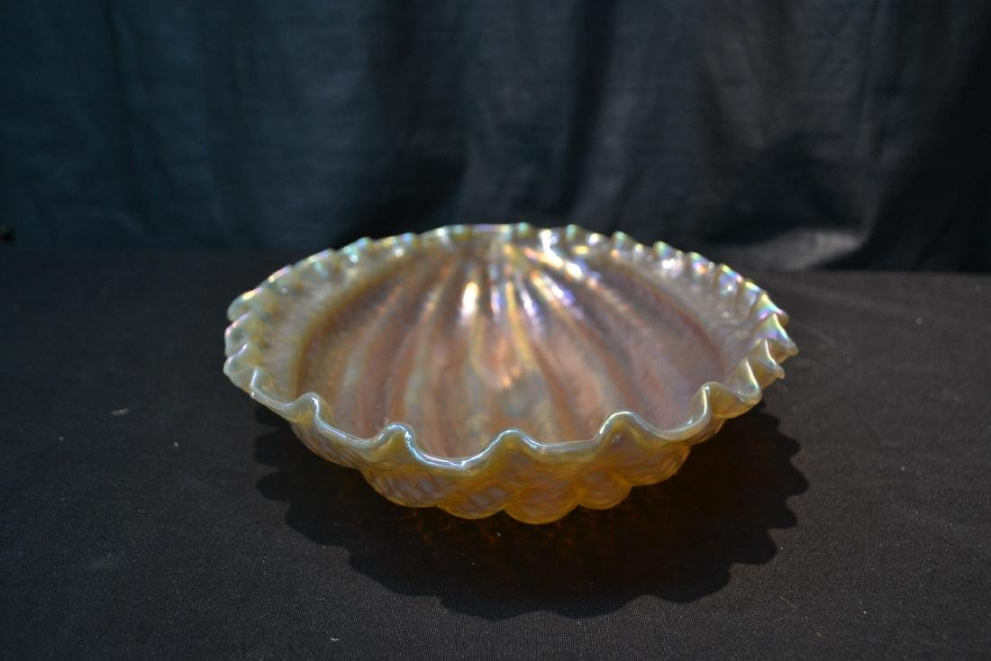 LOETZ WATERMELON PATTERN ART GLASS BOWL - 4