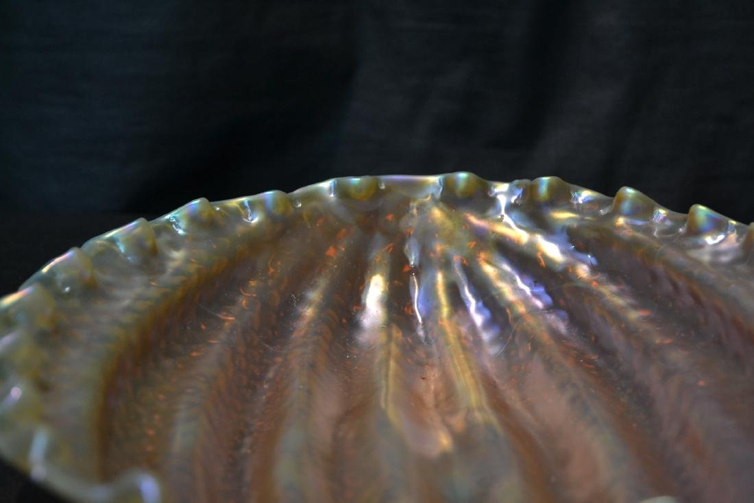 LOETZ WATERMELON PATTERN ART GLASS BOWL - 5